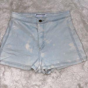 Tie die American Apparel Jean Shorts